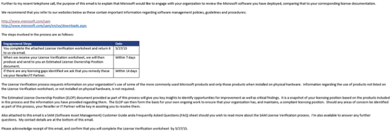 Microsoft Verification Request