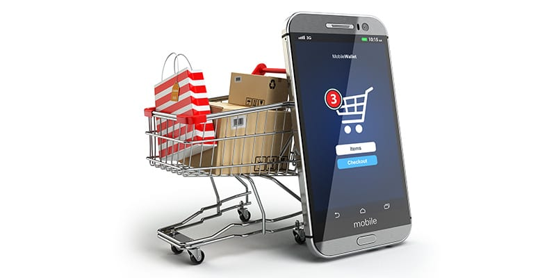 Online shopping driven by mobile